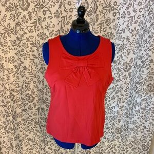 Banana Republic red bow front tank  XL